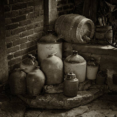 Photograph - Old Jugs Sepia Dsc08891 by Greg Kluempers