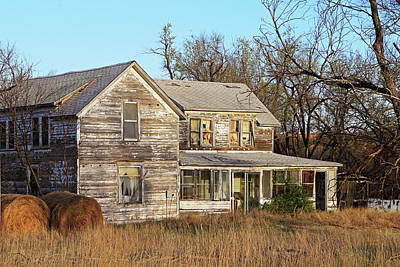 Photograph - Old Kansas Home  by Christopher McKenzie