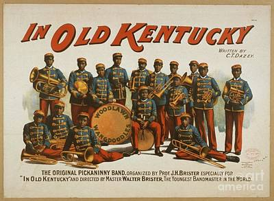 Painting - Old Kentucky The Original Pickaninny Band 1894 by R Muirhead Art