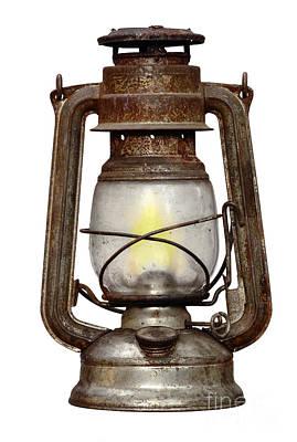 Oil Lamp Photograph - Old Kerosene Lamp by Michal Boubin