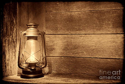 Photograph - Old Kerosene Light by American West Legend By Olivier Le Queinec