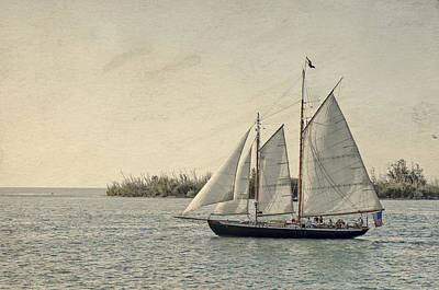 Old Key West Sailing Art Print
