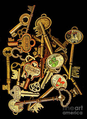Photograph - Old Keys #1 by ELDavis Photography