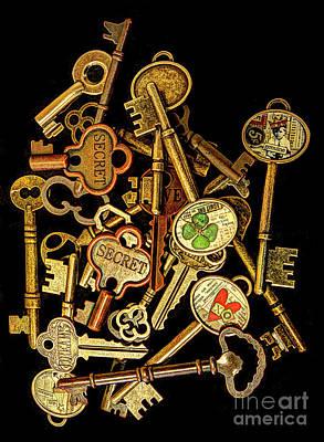 Photograph - Old Keys #1 by ELDavis Photography