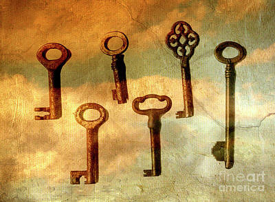 Photograph - Old Keys by Patricia Hofmeester