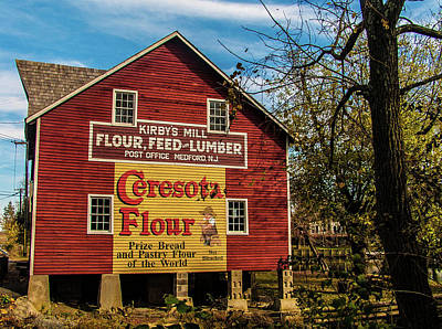 Medford Photograph - Old Kirby's Flower Mill by Louis Dallara