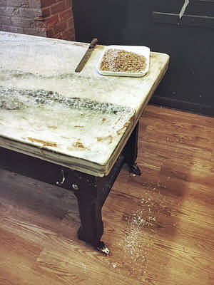 Shiny Floors Photograph - Old Kitchen Table by Tom Gowanlock