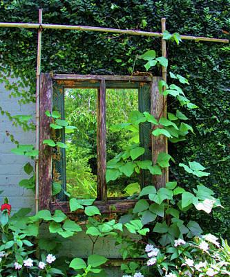 Photograph - Old Kitchen Window by Cynthia Guinn