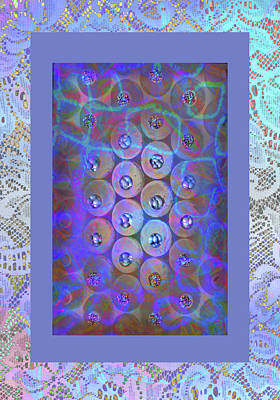 Photograph - Old Lace With Holographic Circles by Nareeta Martin