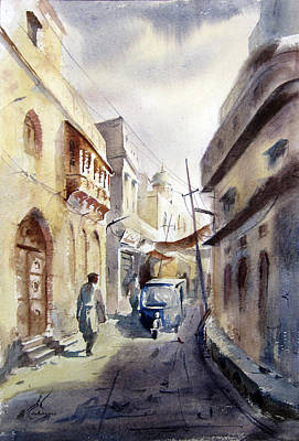 Nca Painting - Old Lahore by MKazmi Syed