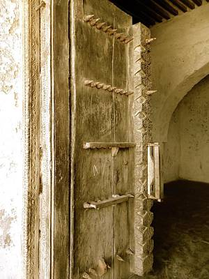 Exploramum Wall Art - Photograph - Old Lamu Town - Carved Old Door With Spikes by Exploramum Exploramum