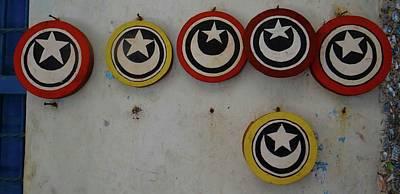 Exploramum Wall Art - Photograph - Old Lamu Town - Islamic Discs by Exploramum Exploramum