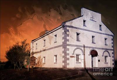 Mixed Media - Old Lancaster County Jail Sc by Bob Pardue