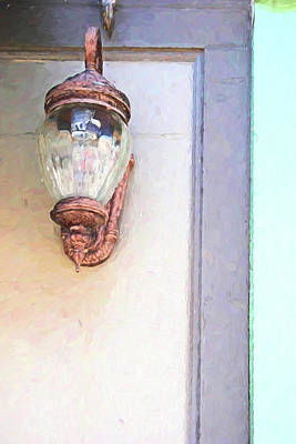 Photograph - Old Lantern Port Huron 10 Painterly by Mary Bedy