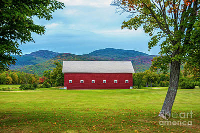 Photograph - Old Large Red Barn by Alana Ranney