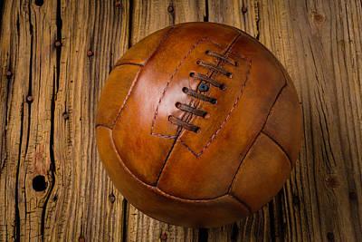 Old Leather Football Art Print