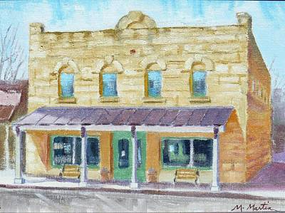 Mike Martin Painting - Old Library Building by Mike Martin