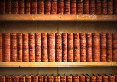 Spine Photograph - Old Library by Tom Gowanlock