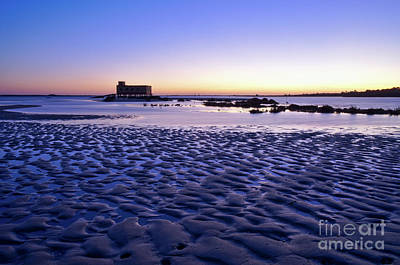 Old Lifesavers Building Covered By Twilights Blue Light Art Print by Angelo DeVal