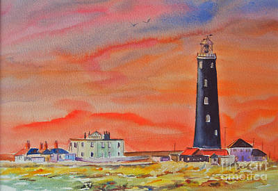 Painting - Old Light House - Dungeness by Beatrice Cloake
