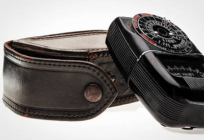 Photograph - Old Light Meter And Its Leather Case by Phil Cardamone