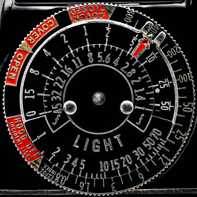 Photograph - Old Light Meter Dial by Phil Cardamone