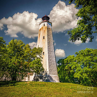 Photograph - Old Lighthouse At Sandy Hook by Nick Zelinsky