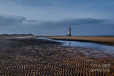 Old Lighthouse In Talacre  Art Print