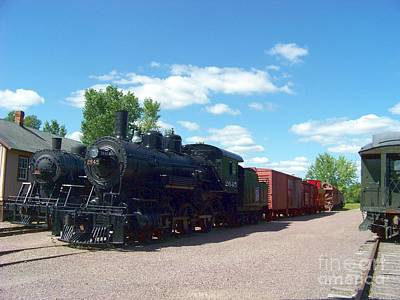 Transportion Photograph - Old Locomotive by Charles Robinson
