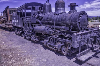 Aging Photograph - Old Locomotive by Garry Gay
