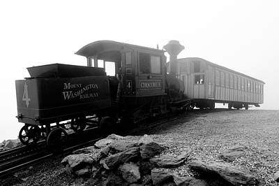 Black And White Photograph - Old Locomotive by Sebastian Musial