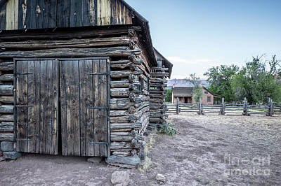 Photograph - Old Log Barn Grafton Ghost Town by Edward Fielding