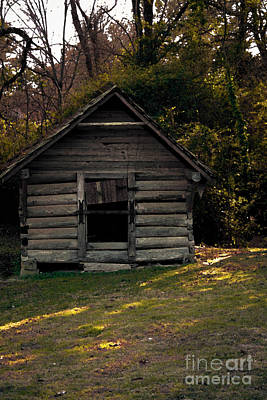 Photograph - Old Log Cabin by Kim Henderson