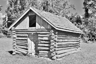 Photograph - Old Log Cabin Schoolhouse by Kim Bemis