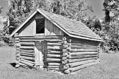 Photograph - Old Log Cabin Schoolhouse by Kim Bemis
