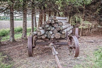 Nikki Vig Royalty-Free and Rights-Managed Images - Old Log Hauler by Nikki Vig