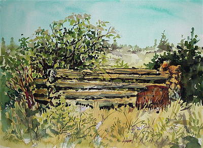 Wa Painting - Old Log Shed by Lynne Haines