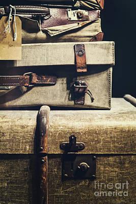 Old Luggage - Natalie Kinnear Photography Art Print