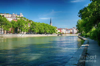 Saone River Photograph - Old Lyon Viewed From The Saone River by George Oze