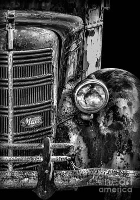 Photograph - Old Mack Truck Front End by Walt Foegelle
