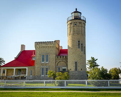 Photograph - Old Mackinac Point Light by Jack R Perry