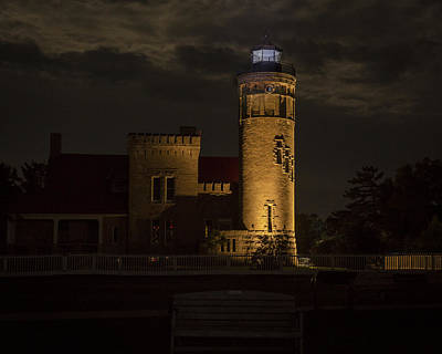 Photograph - Old Mackinac Point Light, Mackinaw City Mi by Jack R Perry