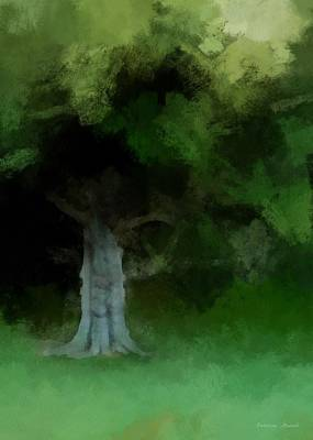 Digital Art - Old Magnolia Tree by Patricia Strand