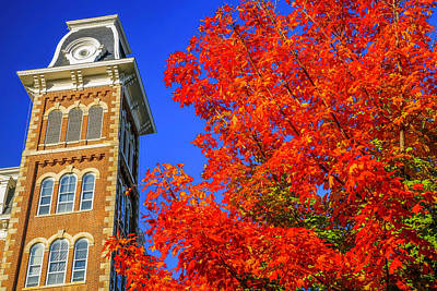 University Of Arkansas Photograph - Old Main Maple by Damon Shaw