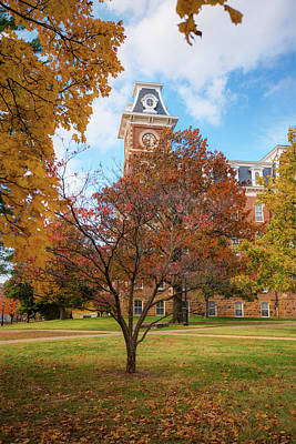 Photograph - Old Main On The University Of Arkansas Campus - Autumn In Fayetteville by Gregory Ballos