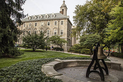 Penn State University Photograph - Old Main Penn State Bell  by John McGraw