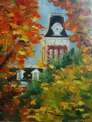 University Of Arkansas Painting - Old Main by Stacy Spangler