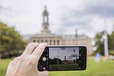 Photograph - Old Main Through Iphone  by John McGraw