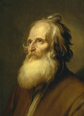 Old Dutch Painting - Old Man by Abraham Bloemaert