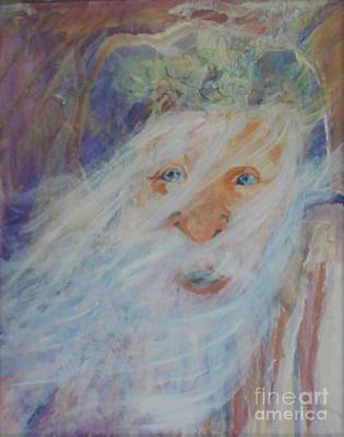 Painting - Old Man And The Sea by Anne Buffington